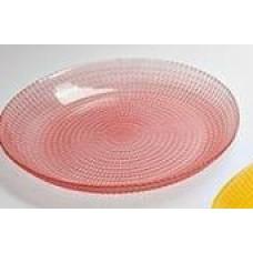 Тарелка десертная  COLOR 19 cм розовая