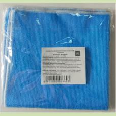 Салфетка из микрофибры 30 х 30 см, голубая