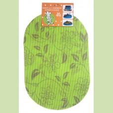 Набор ковриков универсальных 29*43 см-2 шт. зелен.